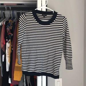 J. Crew Striped Cashmere Sweater, NWOT